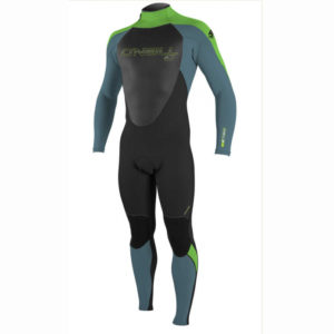 ONeill Youth Girls Epic 32mm Back Zip GBS Wetsuit BLACK - DUSTY BLUE - DAYGLO 4215G