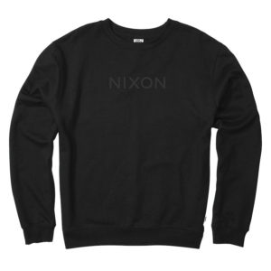 nixon wordmark crew drop in surfshop